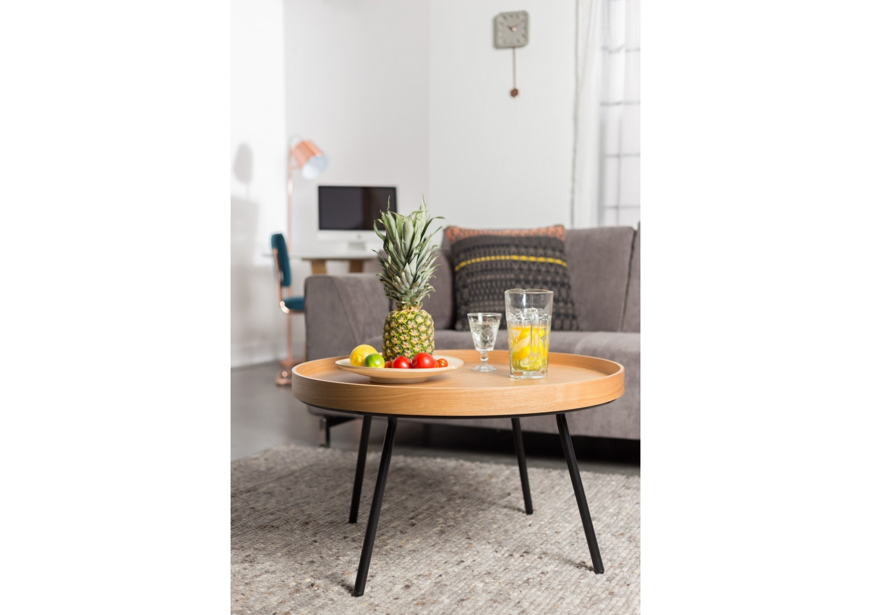 Table basse oak tray plateau mobile design boite for Table design on mobile
