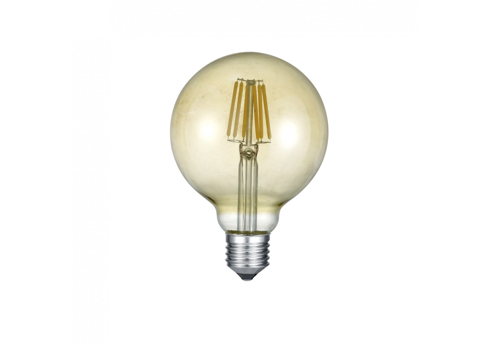 ampoule globe led e27 d co filament 420 lm 6w jaune boite design. Black Bedroom Furniture Sets. Home Design Ideas