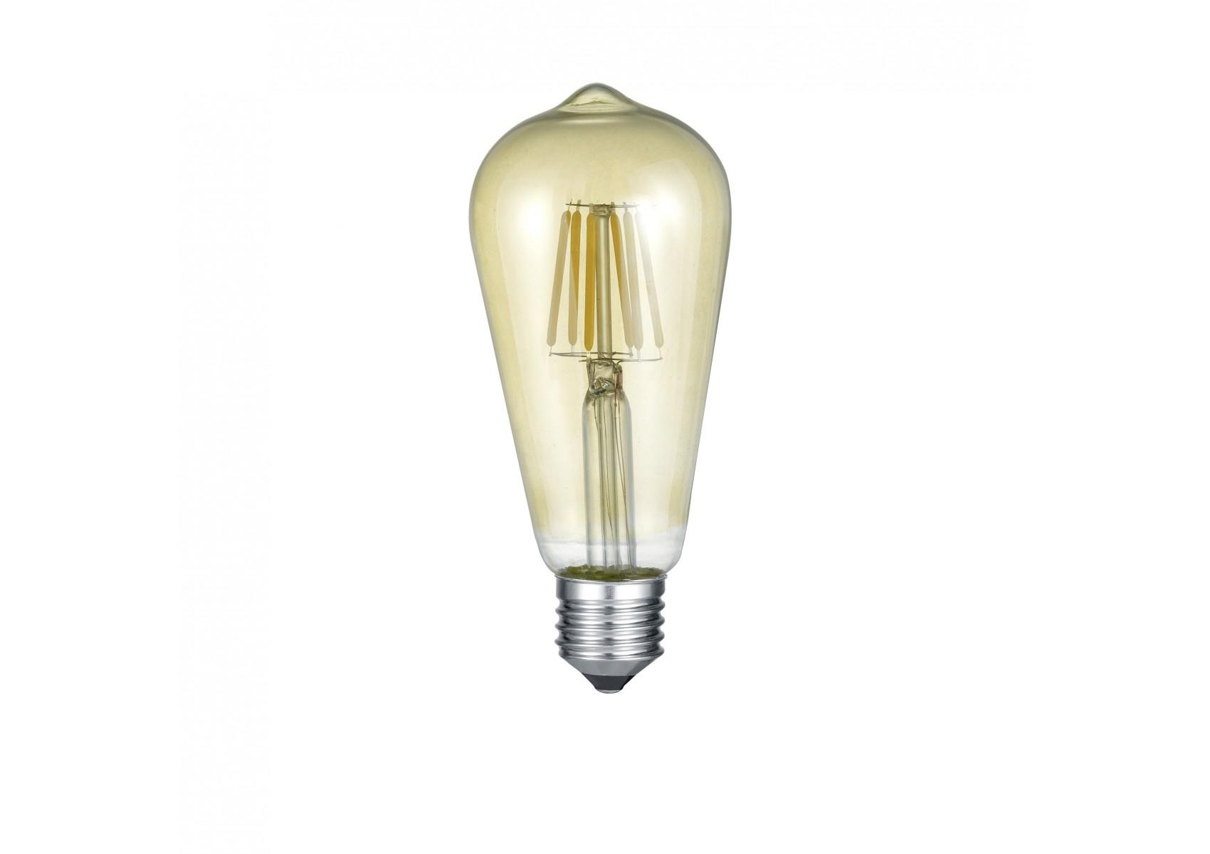 Ampoule longue LED E27 Déco filament 420 lm 6W jaune