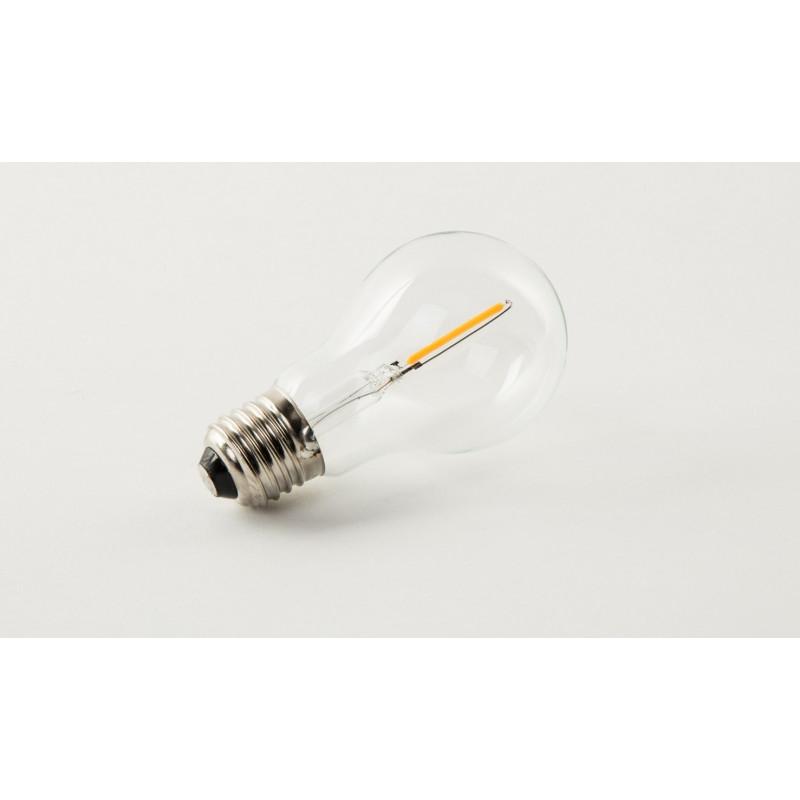 2 ampoules classiques led e27 d coratives par filament 1watt et 73 lm lot de 2 boite design. Black Bedroom Furniture Sets. Home Design Ideas