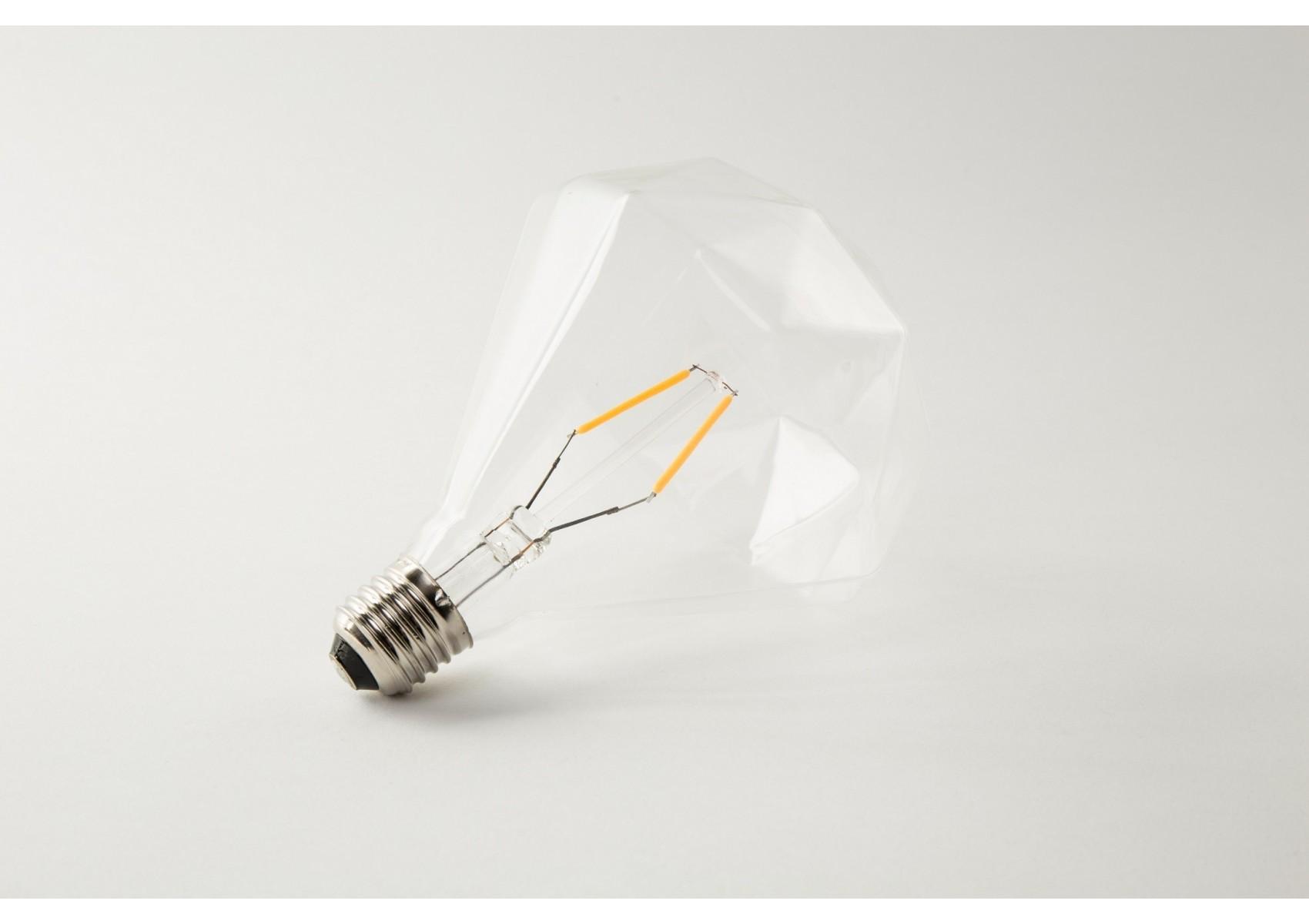 ampoule diamond led e27 d corative par filament 2watts et 138 lm boite design. Black Bedroom Furniture Sets. Home Design Ideas
