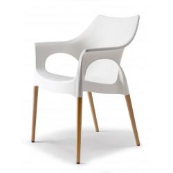 Chaise avec pieds bois naturel - NATURA OLA - vendu à l'unité - déco