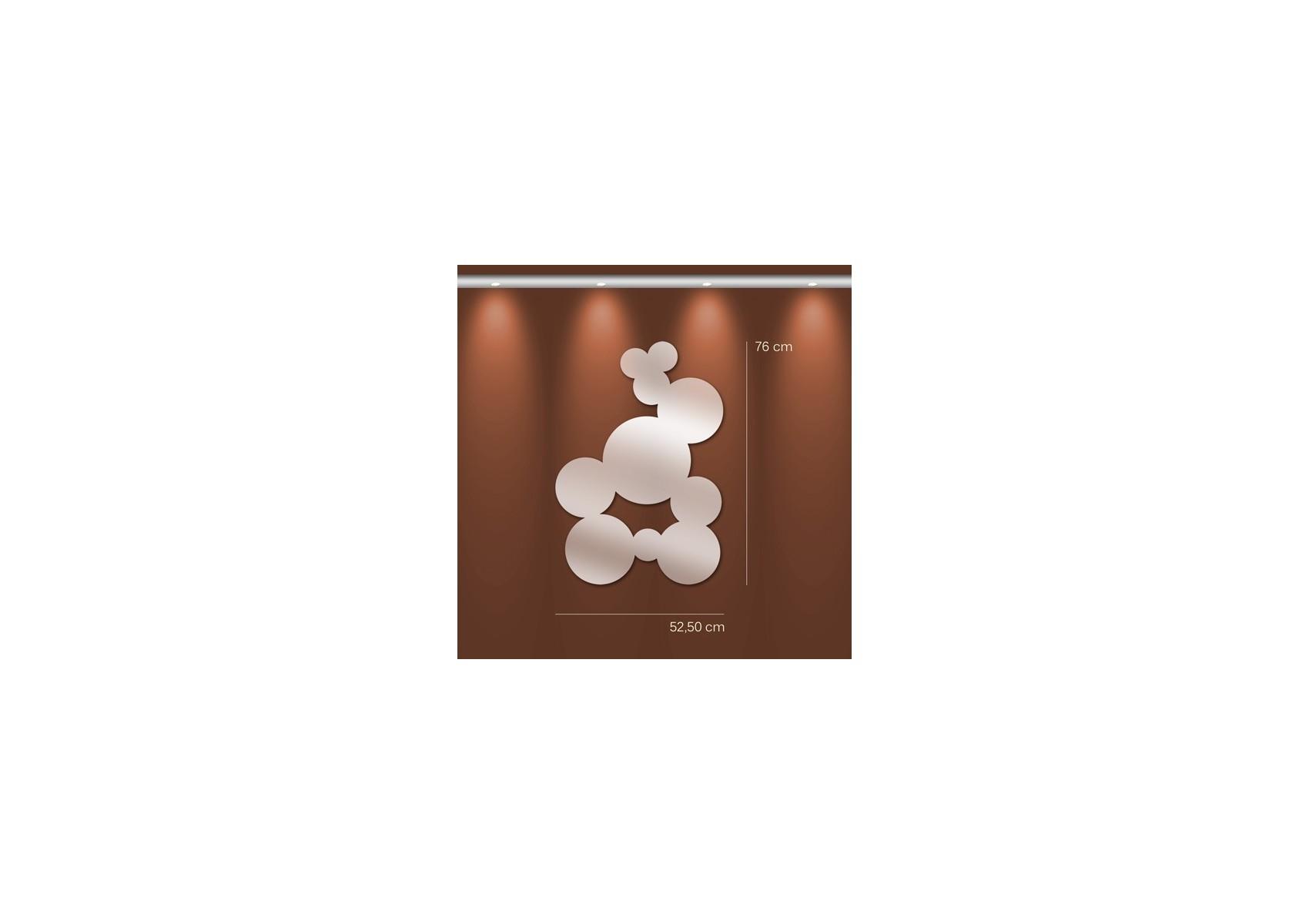 Miroir bulles fresque ronde en acrylique for Miroir en acrylique
