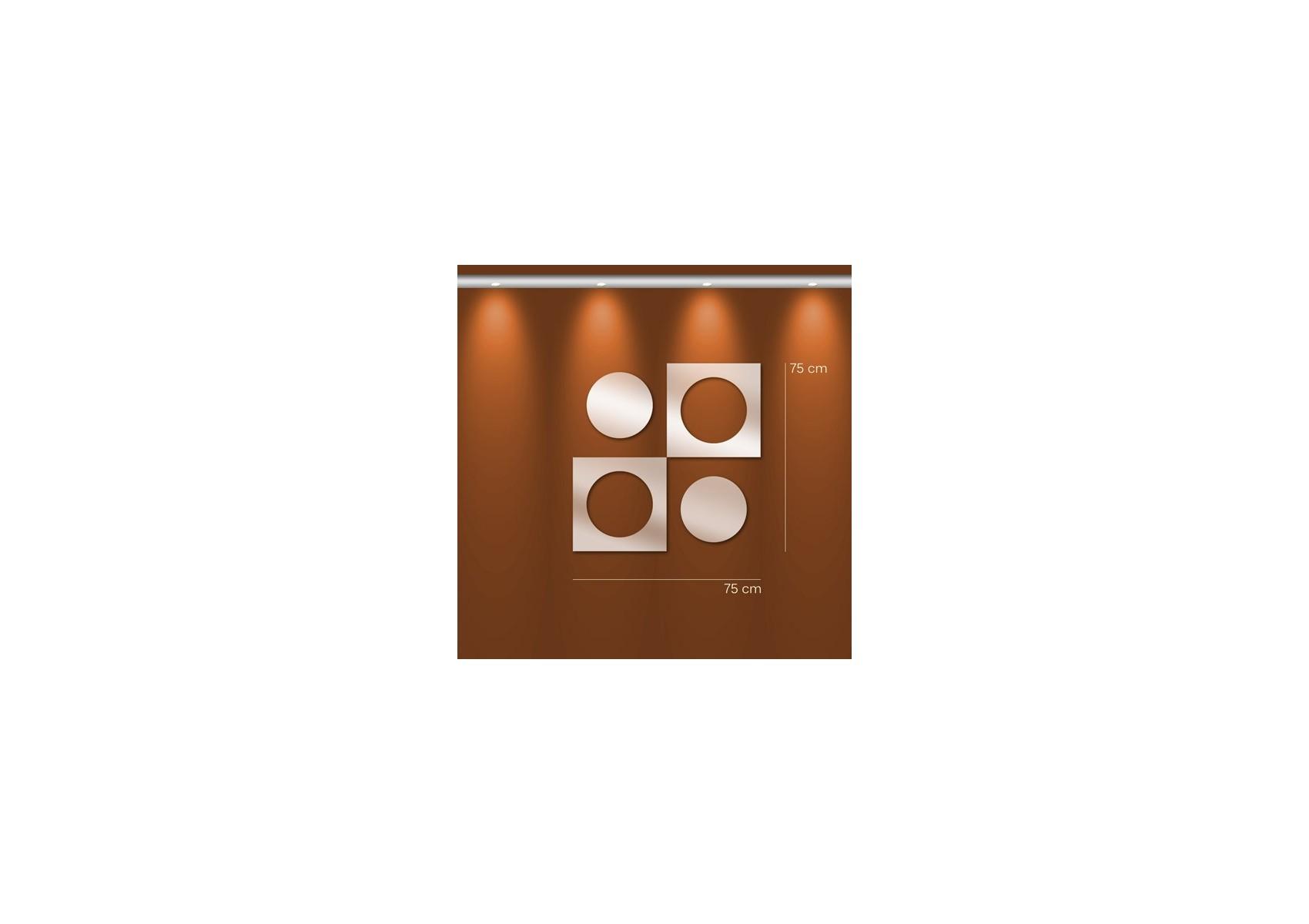 Miroir design rond et carr imbriqu boite design for Miroir rond design