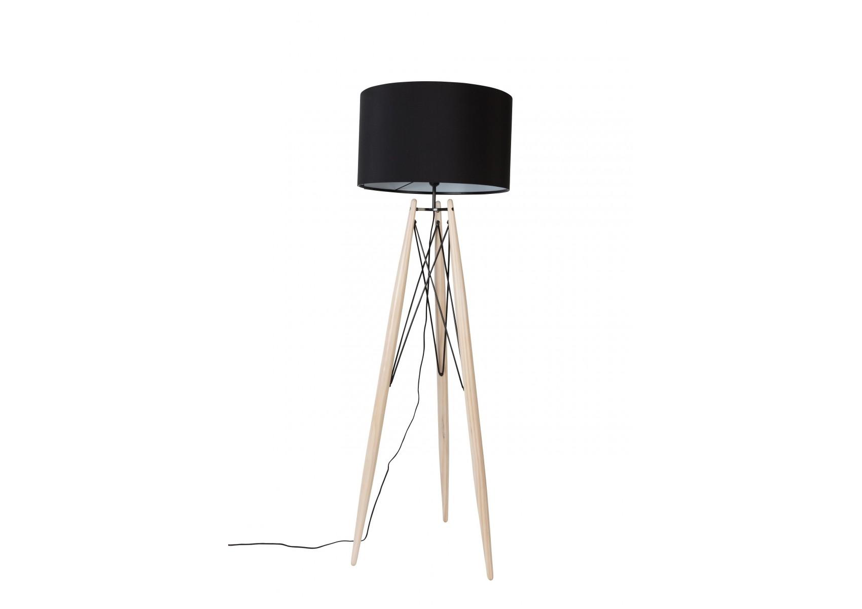 lampadaire design eiffel trepied en bois et metal boite. Black Bedroom Furniture Sets. Home Design Ideas