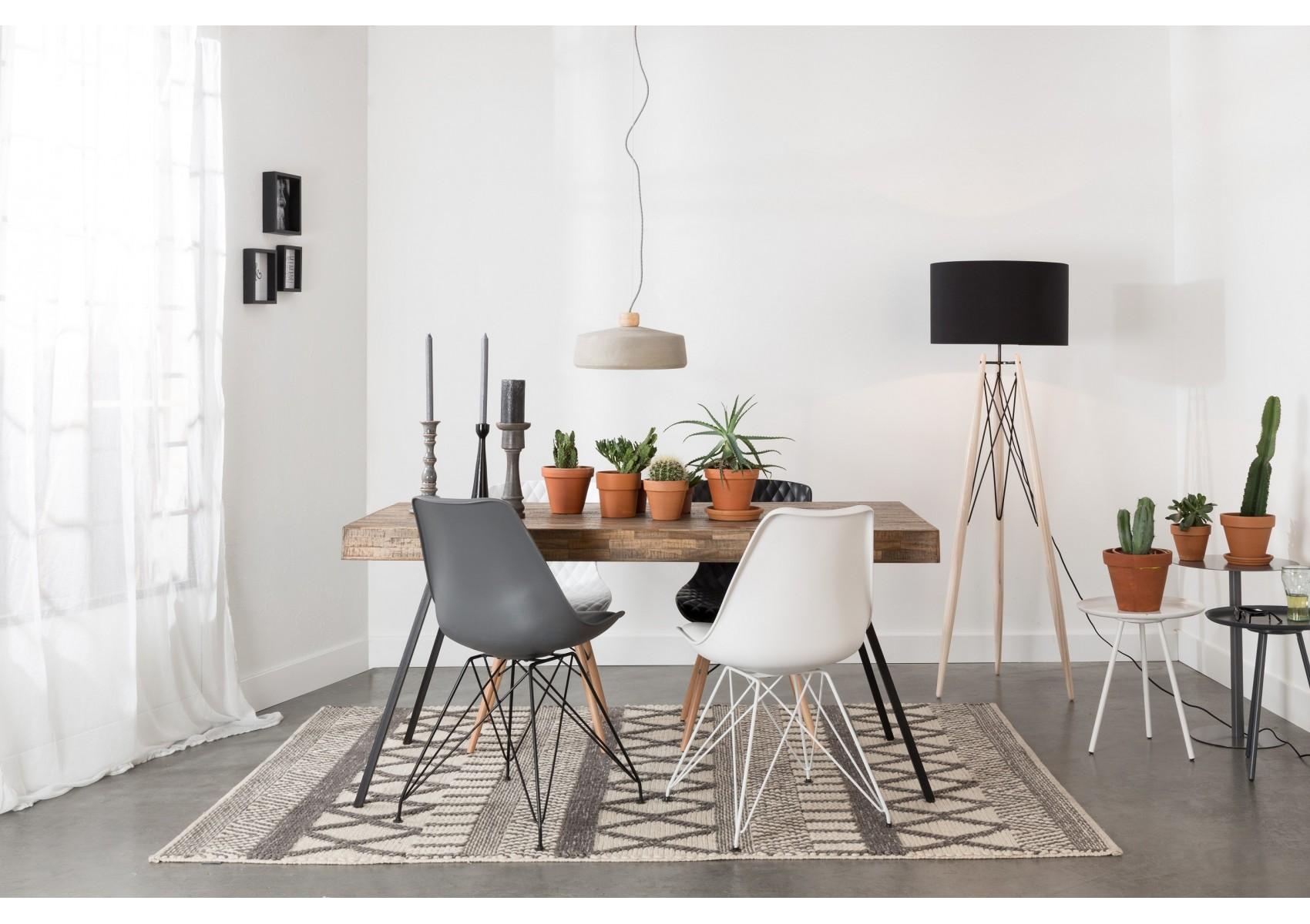 lampadaire design eiffel trepied en bois et metal boite design. Black Bedroom Furniture Sets. Home Design Ideas
