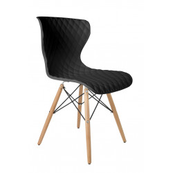 Chaises design scandinave crow beech - lot de 2 - deco