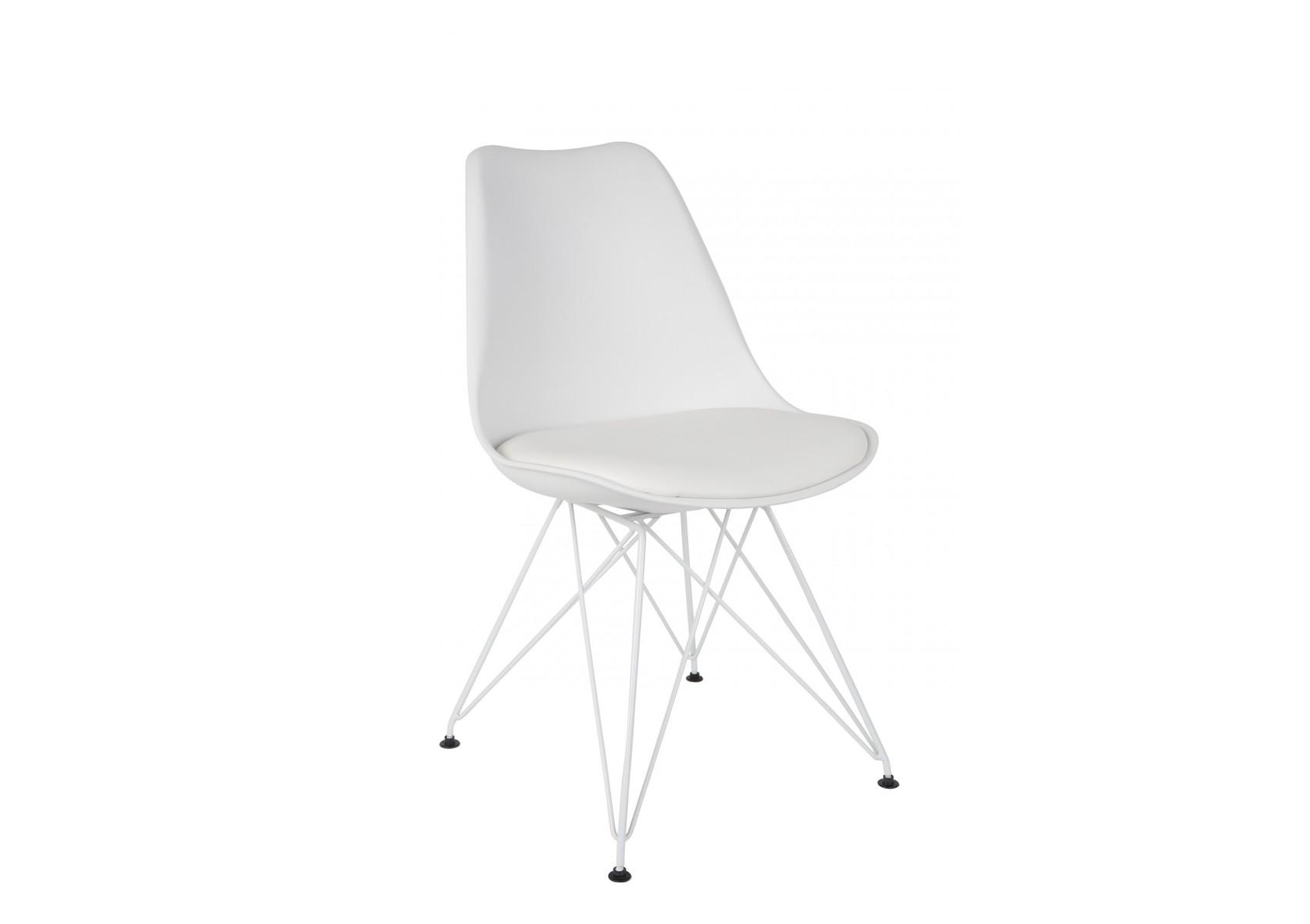 chaises design et contemporaine ozzy avec pied m tal en lot de deux. Black Bedroom Furniture Sets. Home Design Ideas