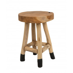 Tabouret design HARRY en teck massif