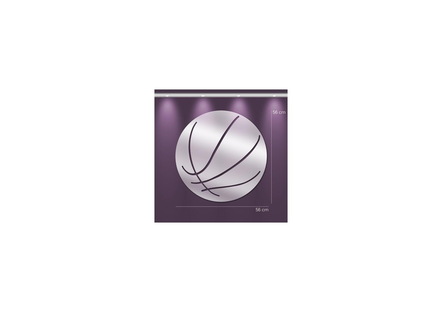Miroir ballon de basket design en acrylique for Miroir en acrylique