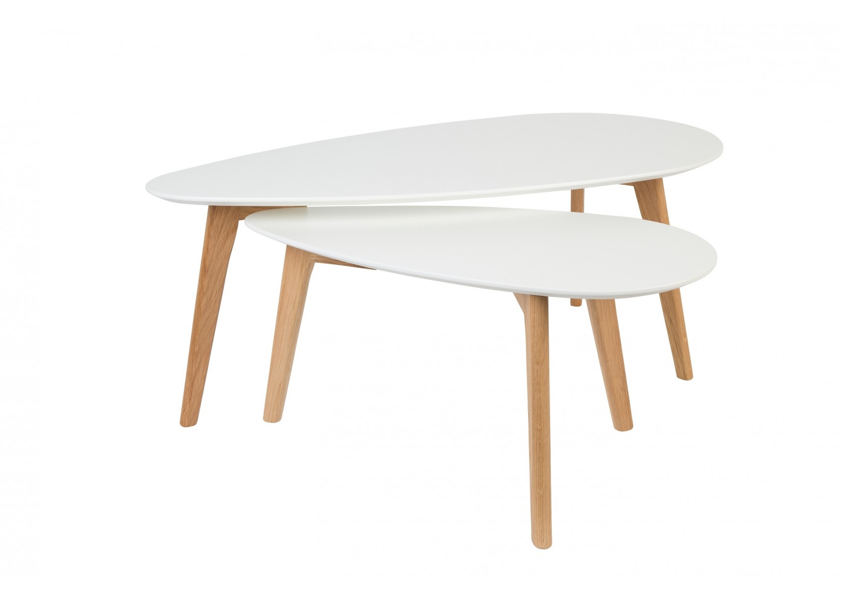 Tables basse scandinave drop laqu e blanche for Table scandinave blanche