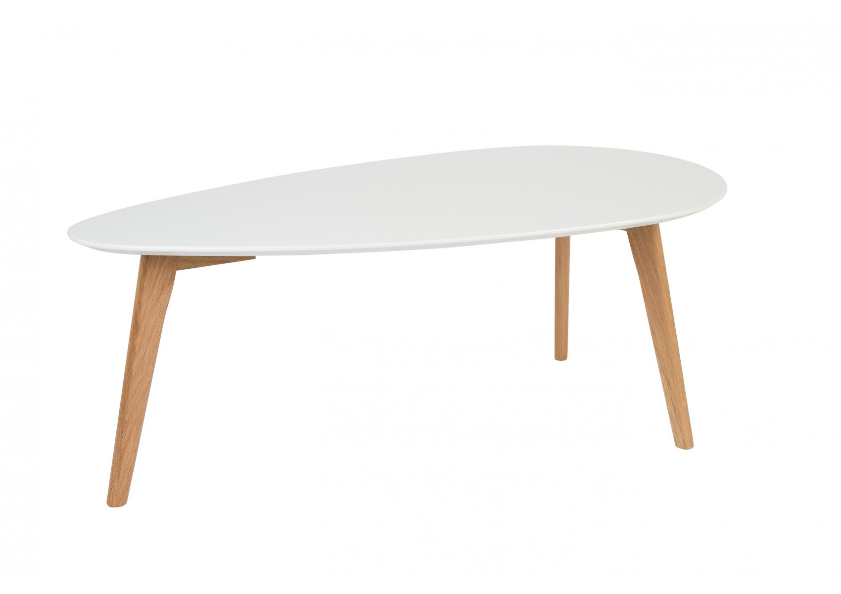 Tables basse scandinave drop laqu e blanche - Tables basses blanches ...