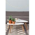 Tables basses scandinave DROP laquée blanche - set de 2