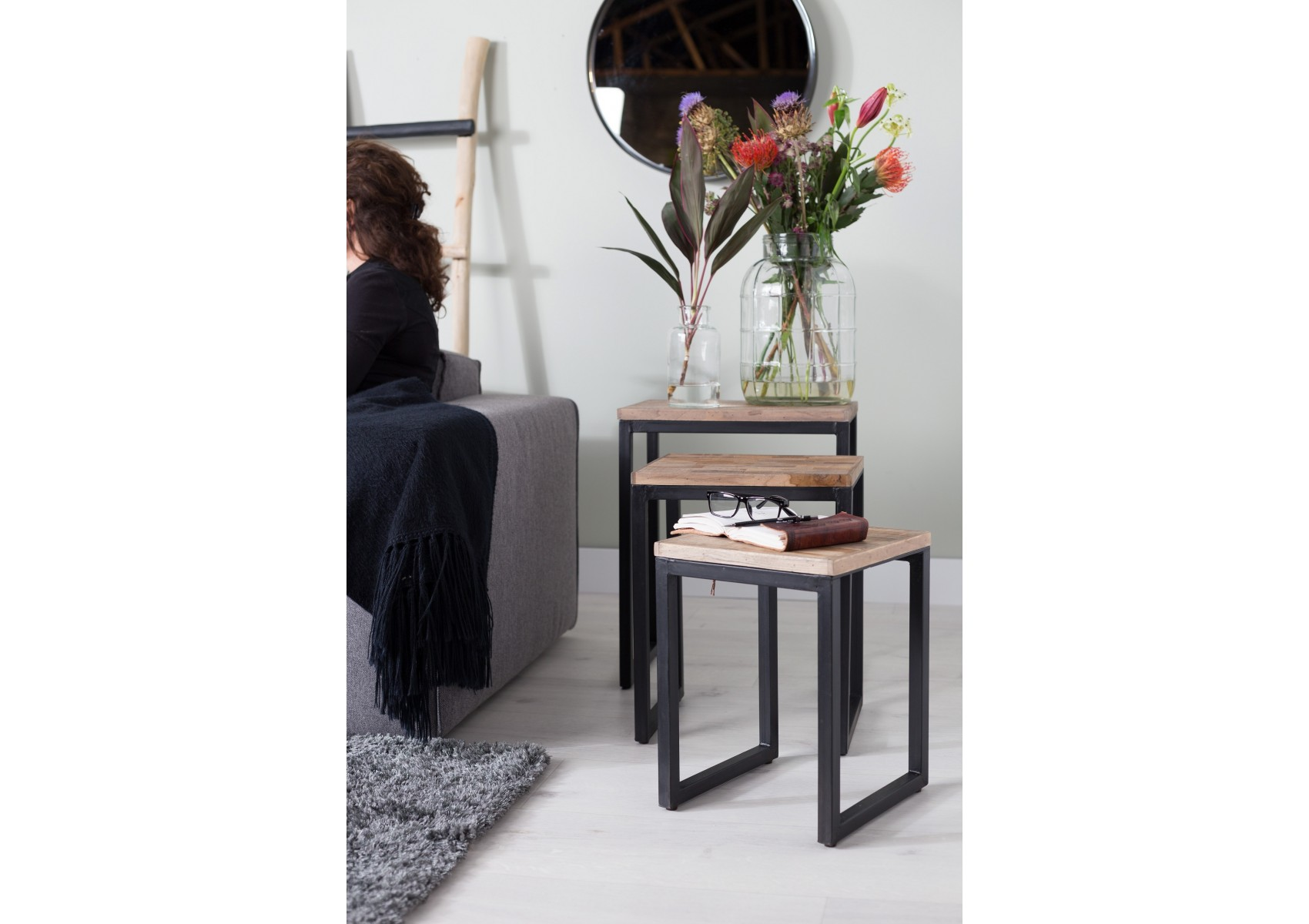 Table Basse Gigogne Suri Set De 3 Boite Design
