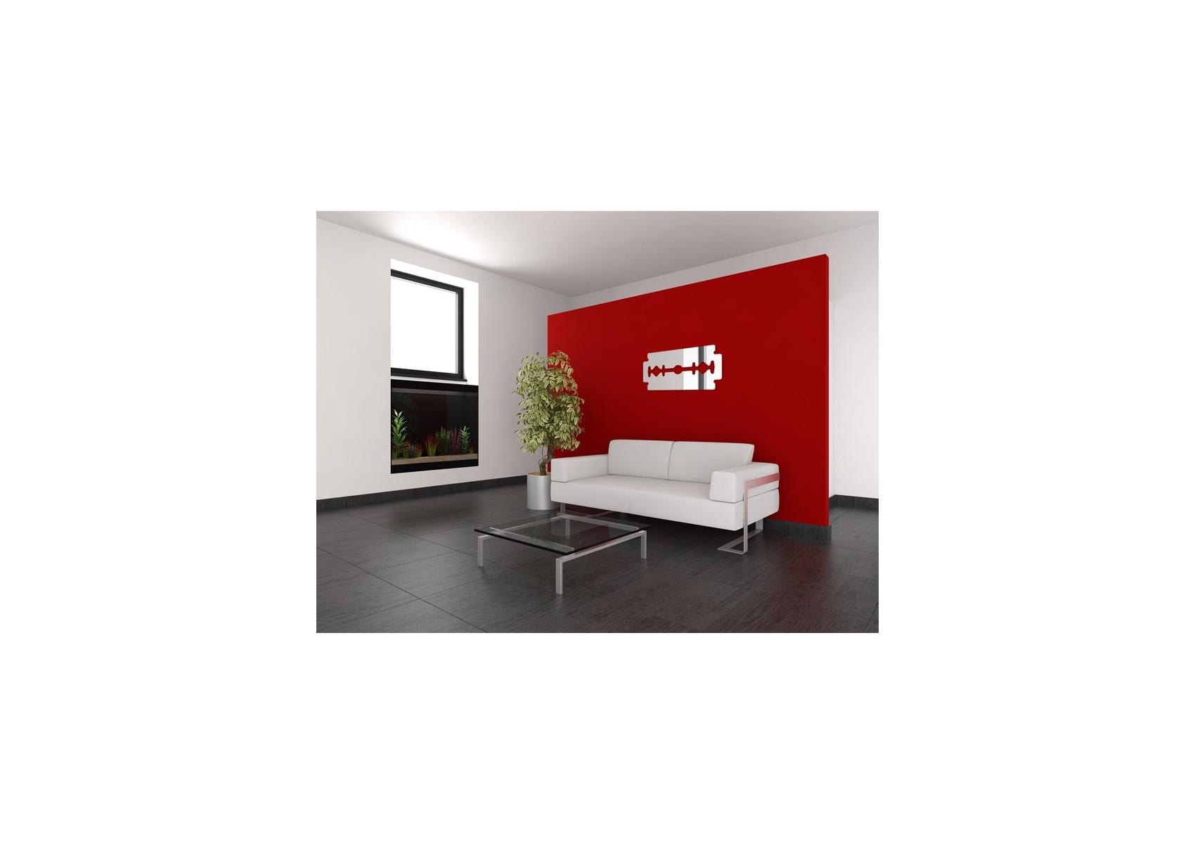 miroir original lame de rasoir en acrylique boite design. Black Bedroom Furniture Sets. Home Design Ideas