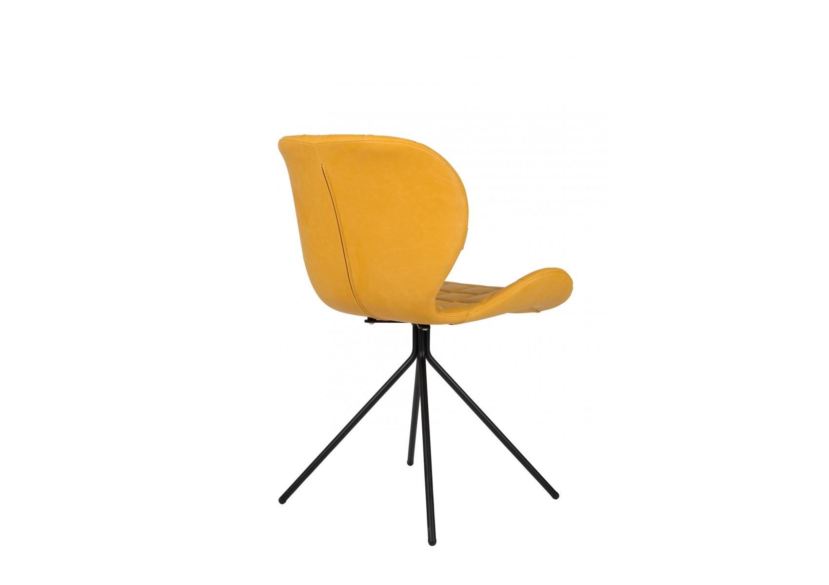 2 Chaises design OMG LL imitation cuir lot de 2 Boite à design