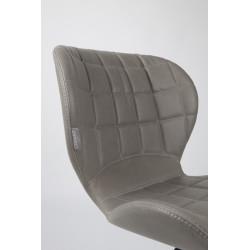 2 Chaises design OMG LL imitation cuir - lot de 2