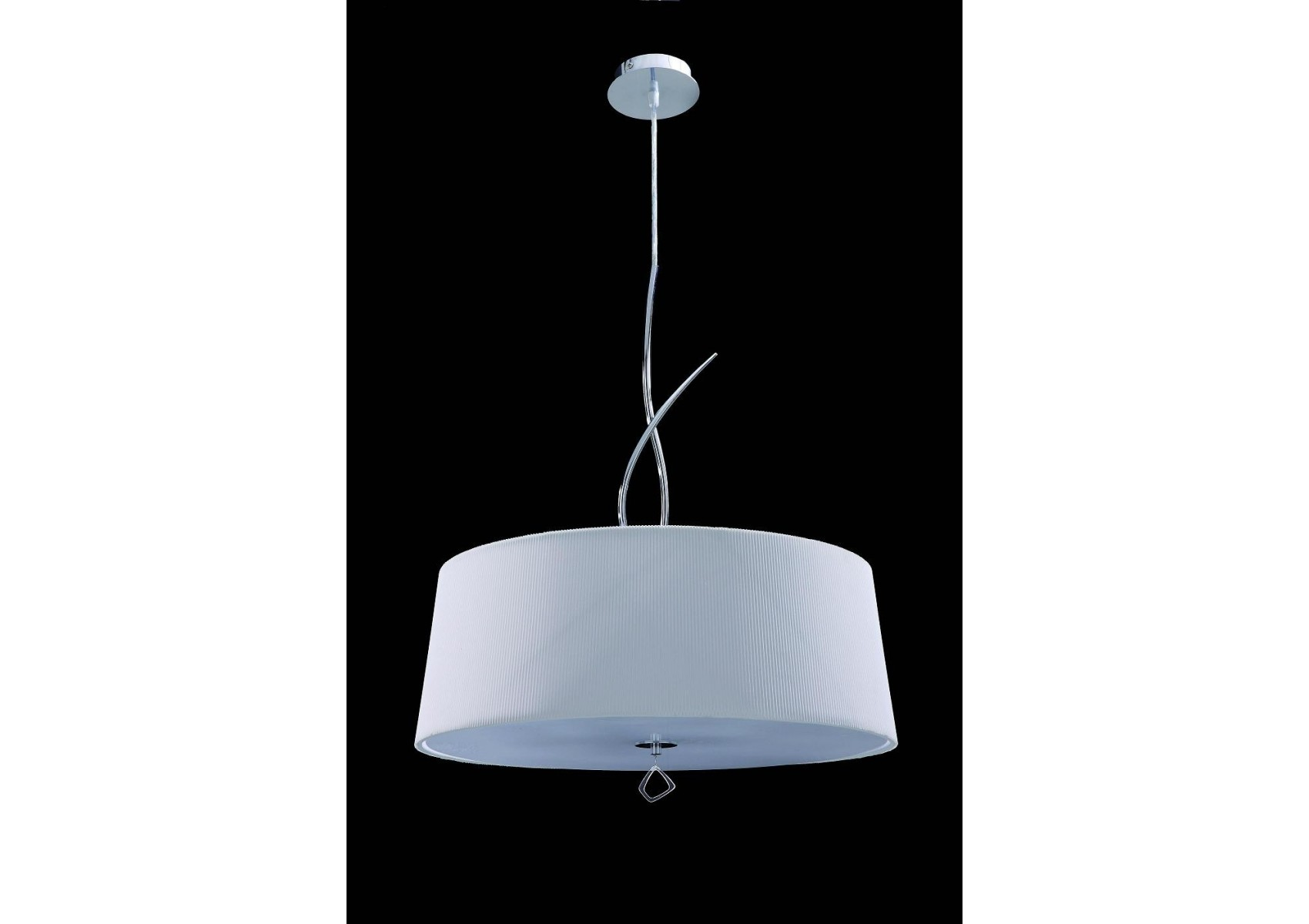 Suspension mara blanche ronde 4l design mantra boite for Suspension blanche design