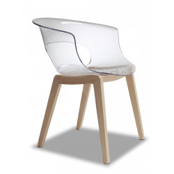 Chaise design Natural Miss B par Scab design