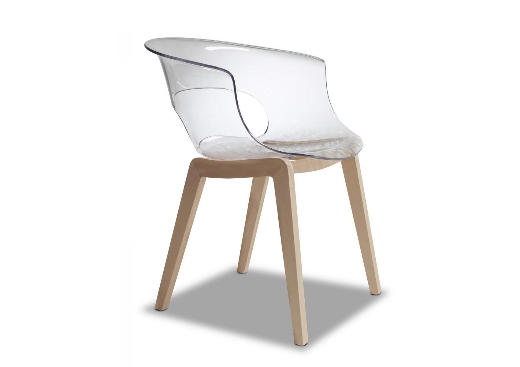 Chaise design avec pieds bois natural miss b antishock d co originale b - Chaise avec pied en bois ...