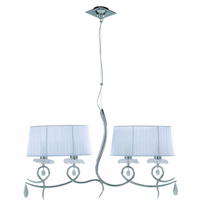 Suspension baroque 5 lampes Louise