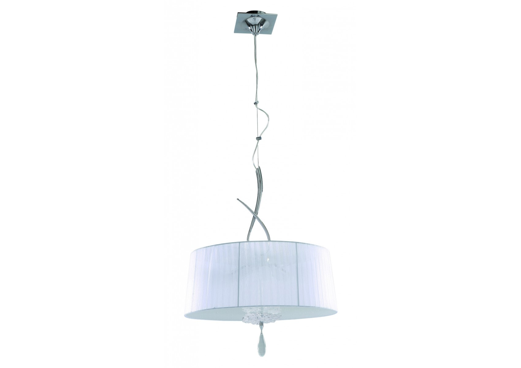 Suspension baroque grand abat jour louise boite design for Suspension baroque