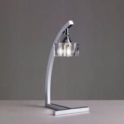 Lampe à poser Cuadrax 1L verre optique Mantra
