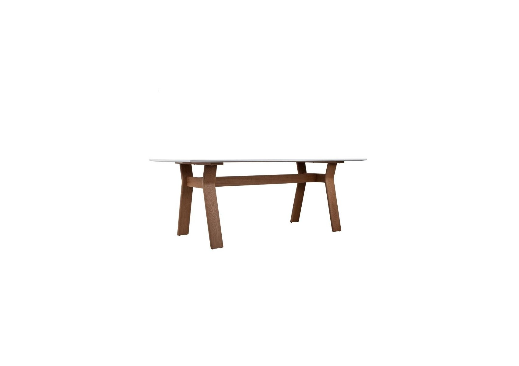 Table repas ou bureau table high on wood blanche et for Table blanche et bois