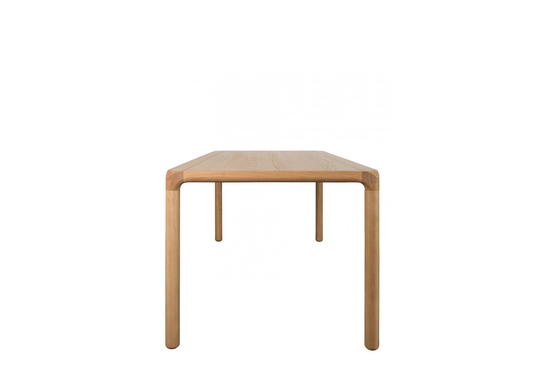 grande table de repas storm en bois de fr ne 220 cm boite design. Black Bedroom Furniture Sets. Home Design Ideas