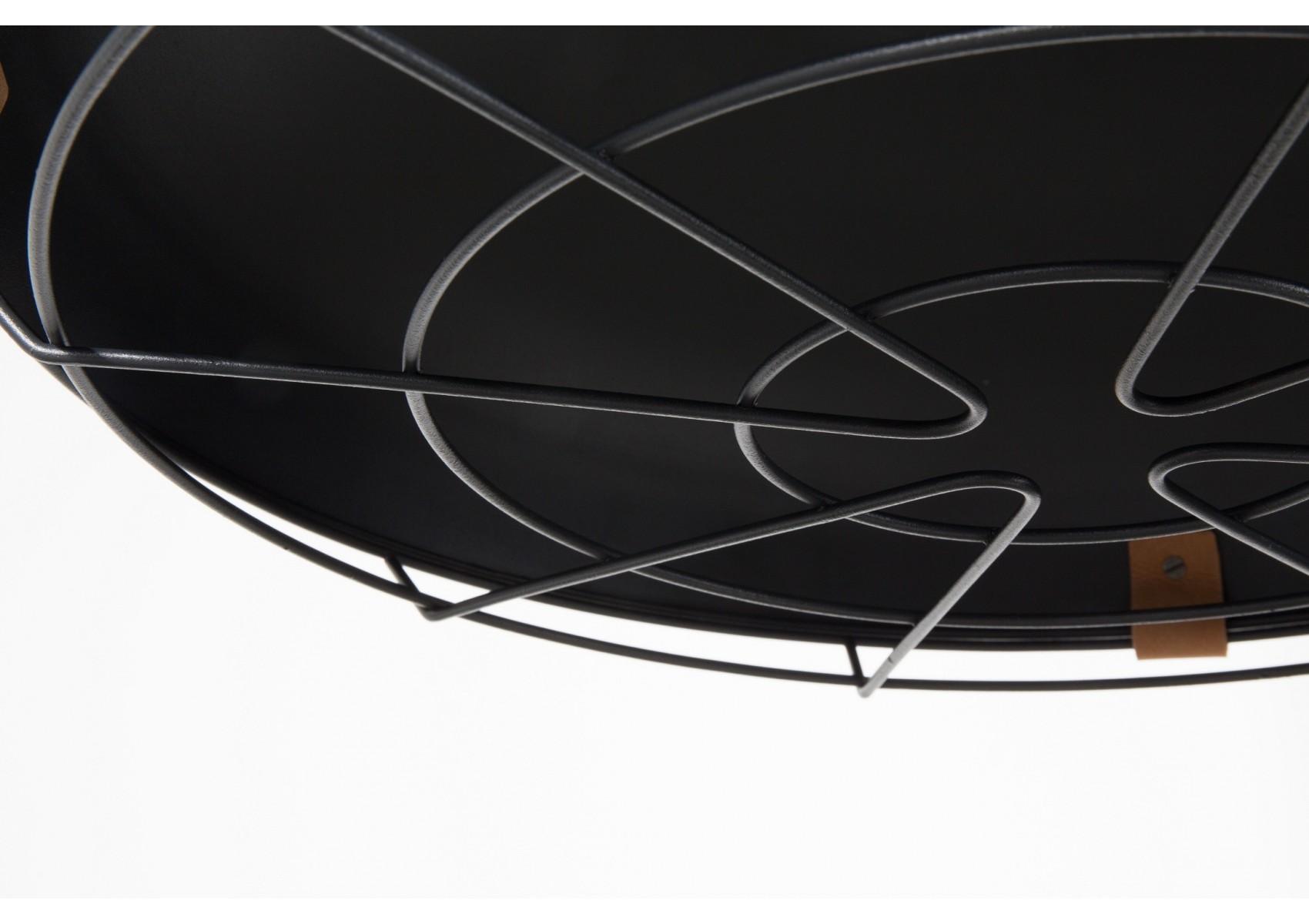 Suspension design dek en m tal et cuir 51 cm deco zuiver for Deco 51