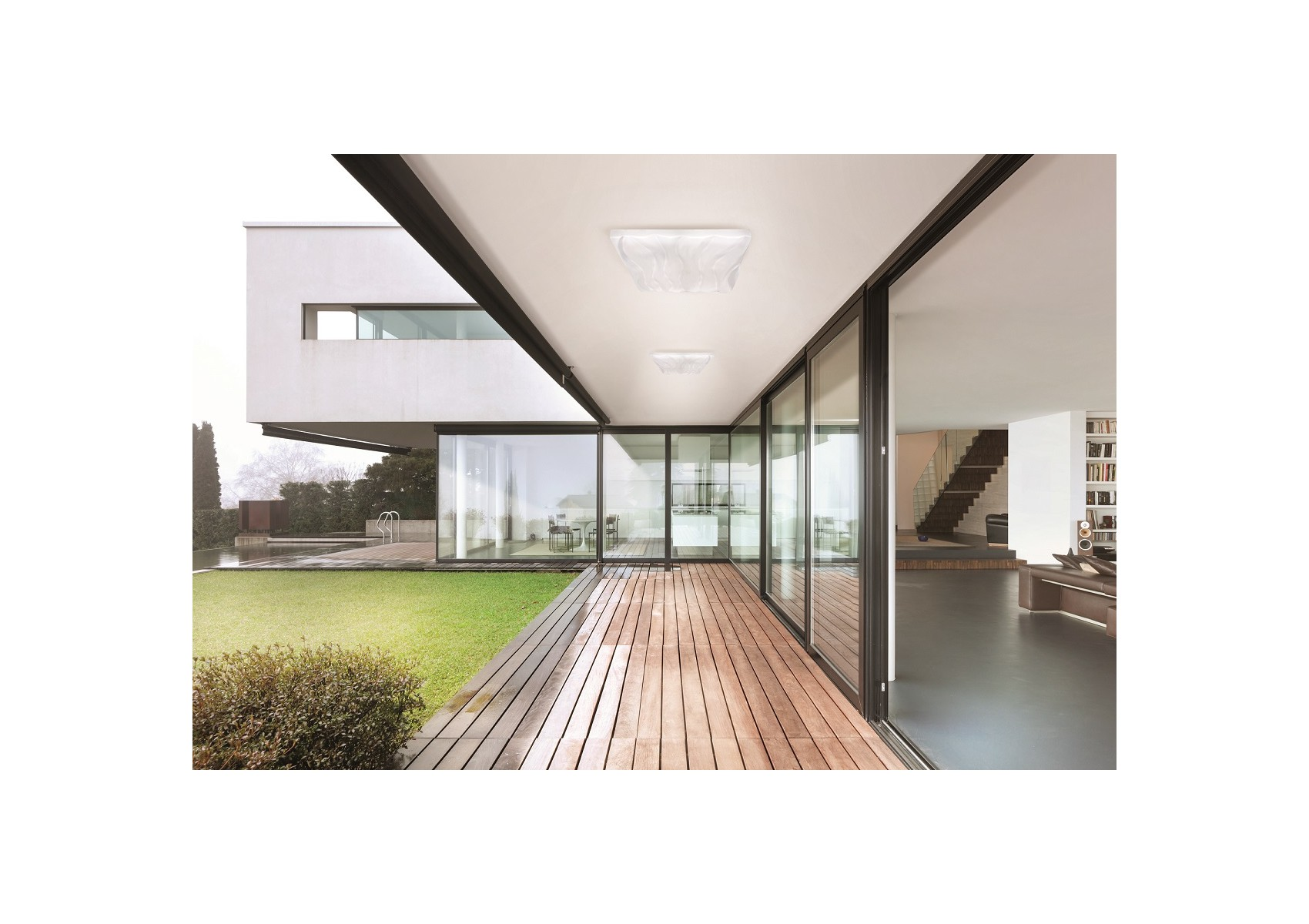 grand plafonnier exterieur design arena carr boite design