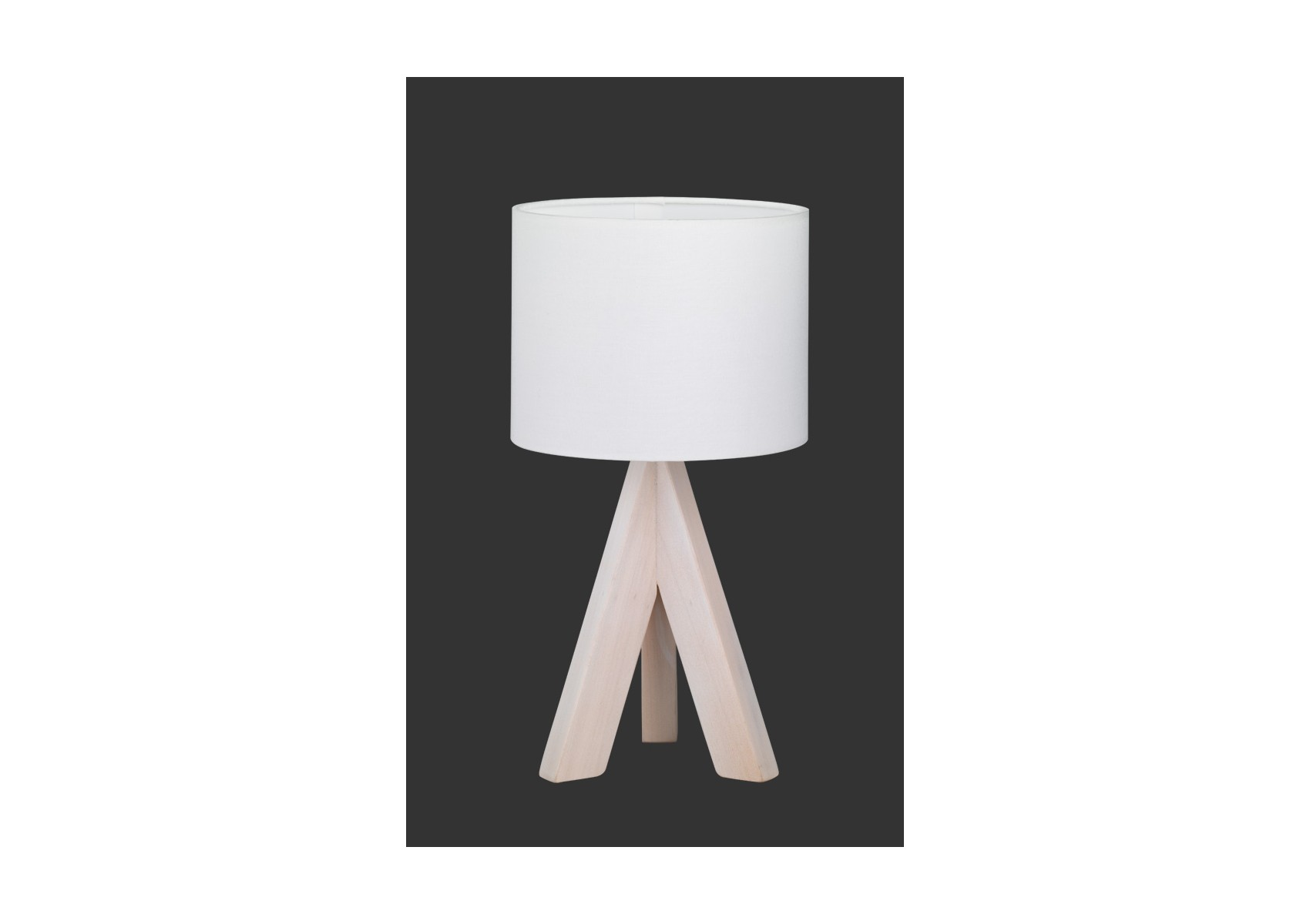 Lampe de table ging bois naturel boite design for Lampe de table rona