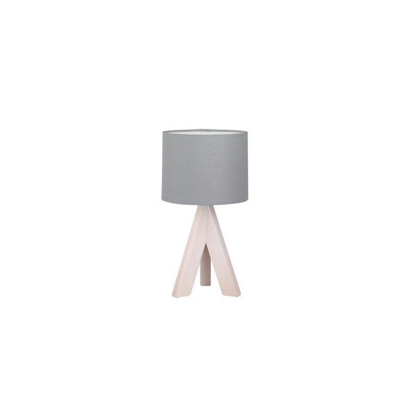 Lampe de table Ging bois naturel