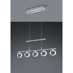 Suspension design chrome LED Corland 5 Lampes
