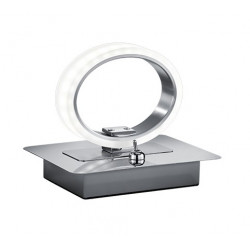 Lampe à poser design chrome LED Corland