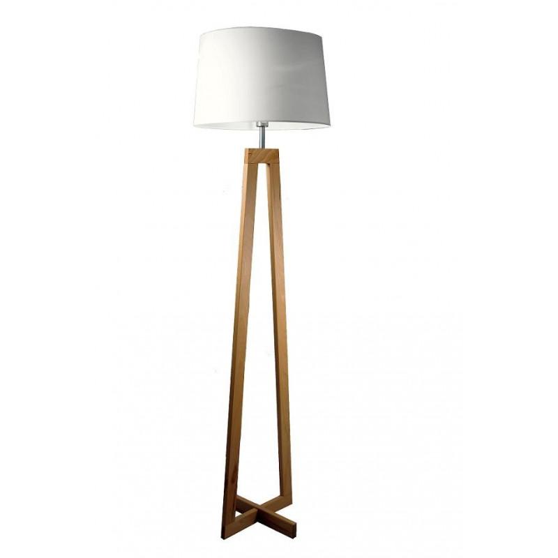 Lampadaire en bois SACHA LS au design scandinave par Aluminor