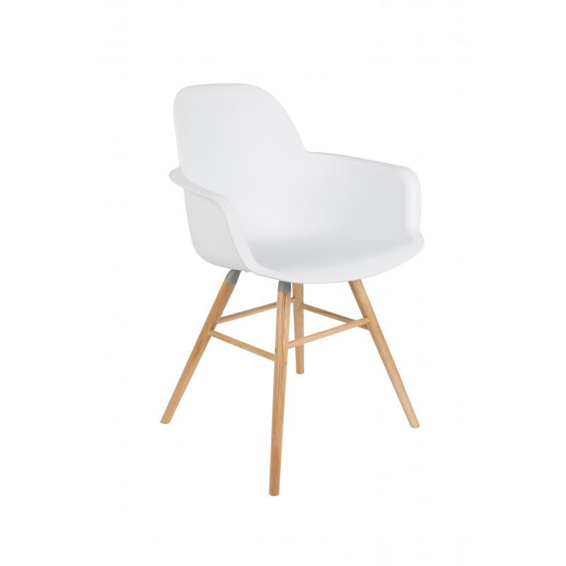 Fauteuil Scandinave Design ALBERT KUIP Zuiver - Fauteuil scandinave blanc