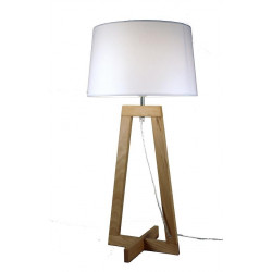 Lampe à poser design Sacha LT blanc écru Aluminor