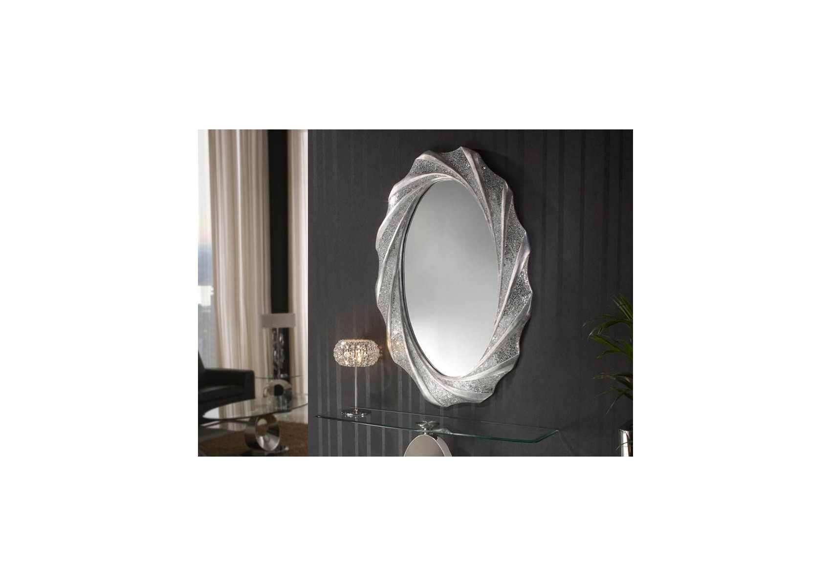 Miroir oval collection gaudi design deco schuller for Collection miroir