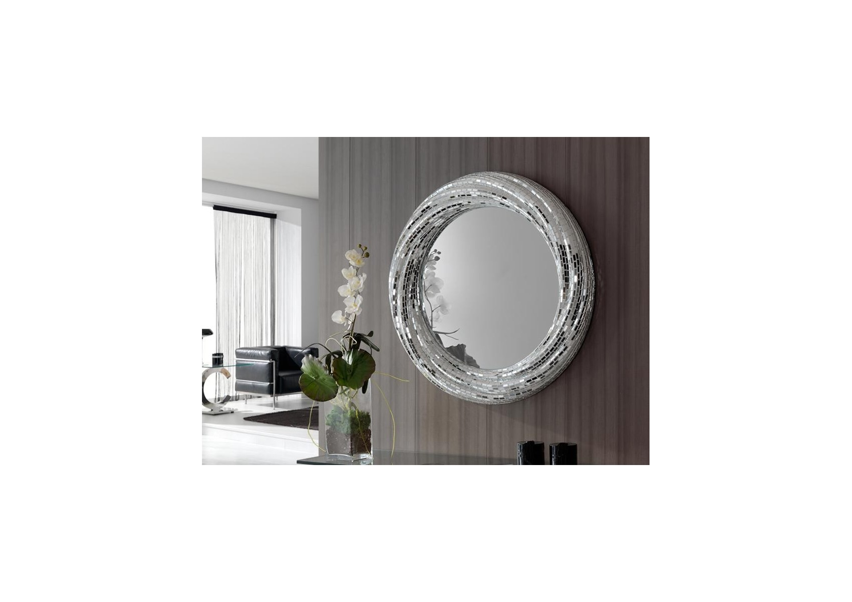 "Miroir rond Rodas collection ""GAUDI"" design - deco schuller"