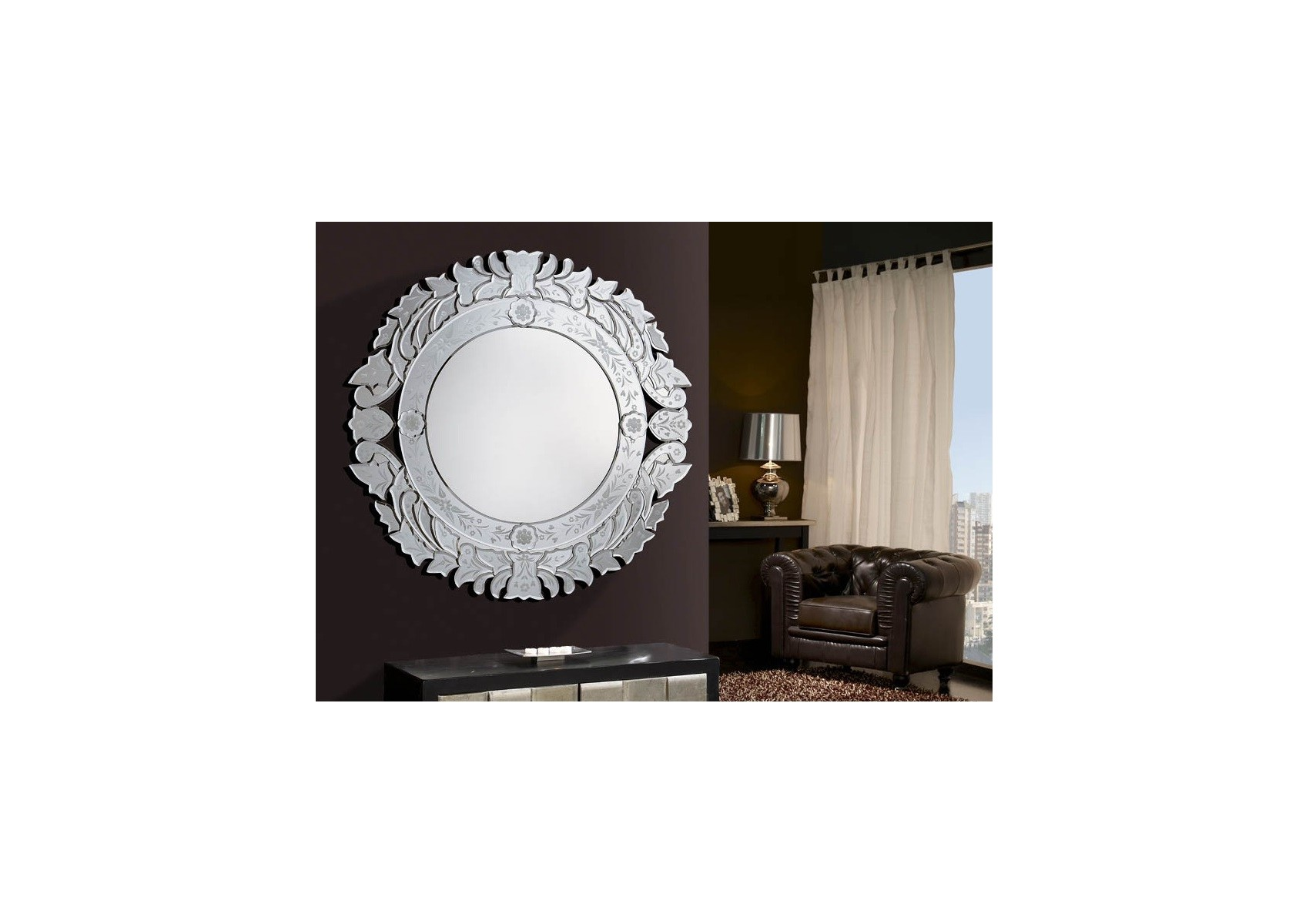 Miroir original design audret deco schuller boite for Miroir original