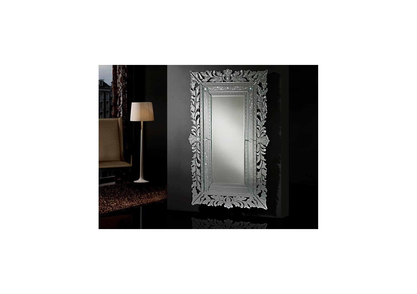 Miroir original design grand cleopatra deco schuller for Deco grand miroir