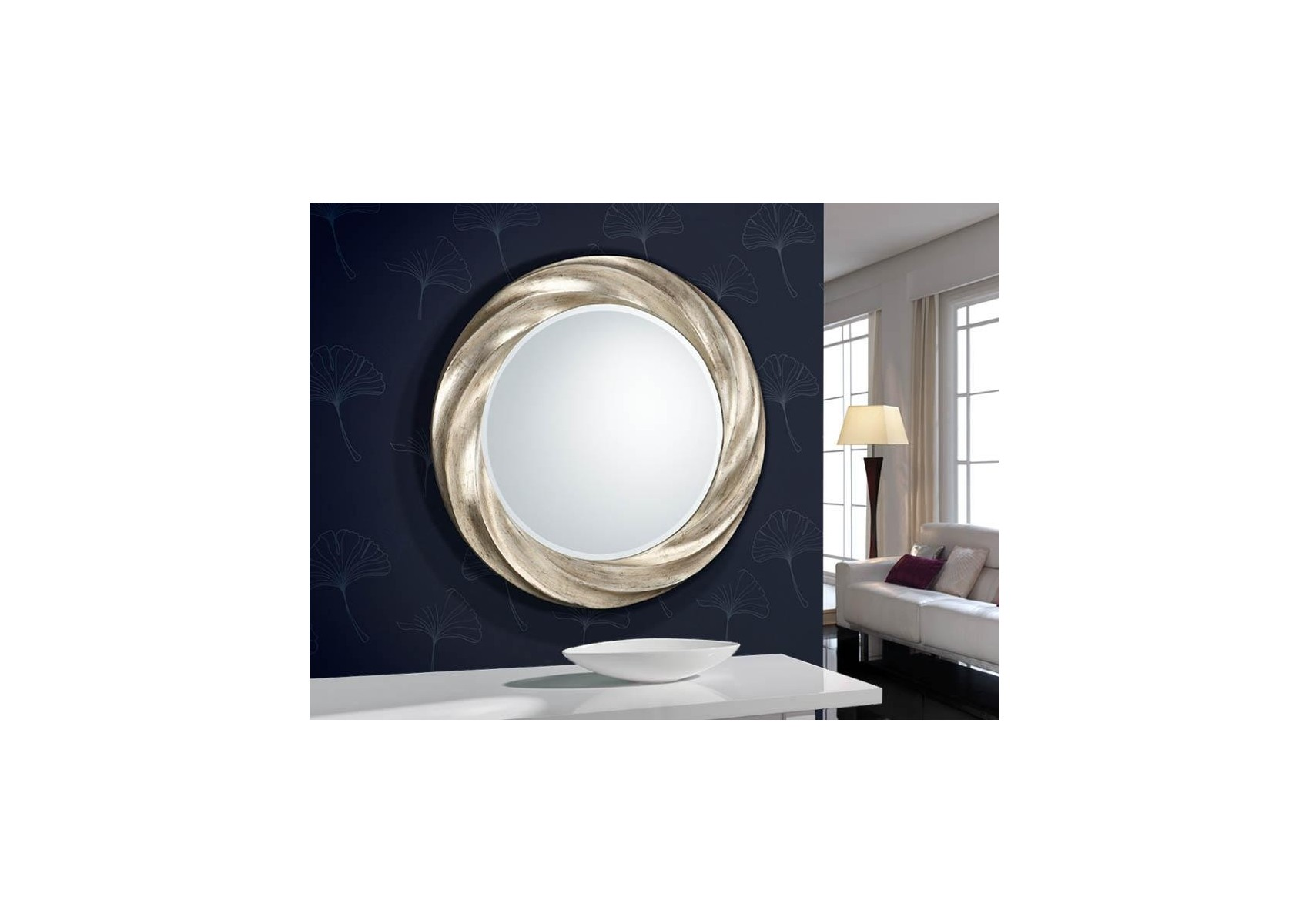 Miroir original design rond rodas deco schuller for Miroir rond design