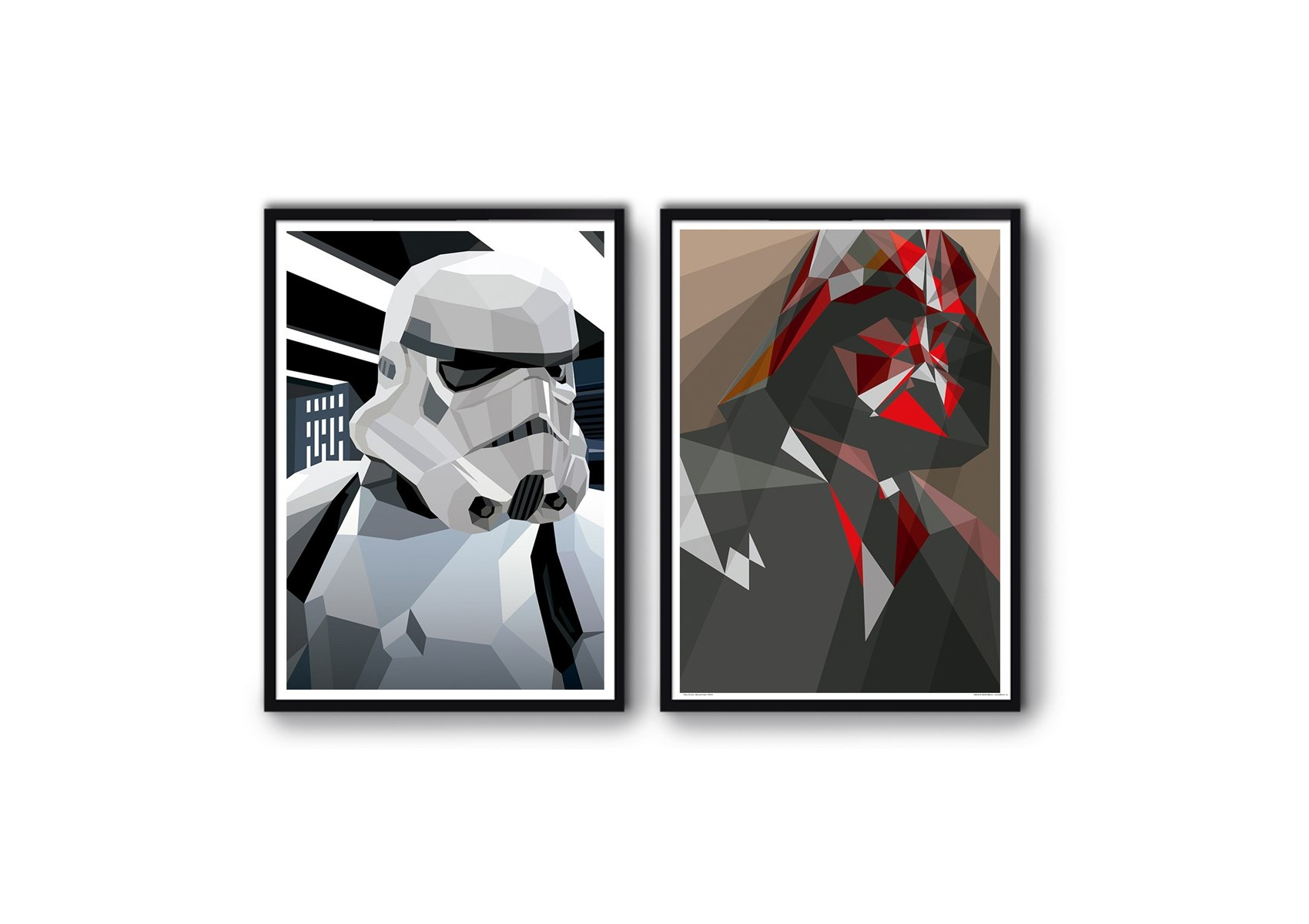 2 affiches d 39 art 50 x 70 cm star wars. Black Bedroom Furniture Sets. Home Design Ideas