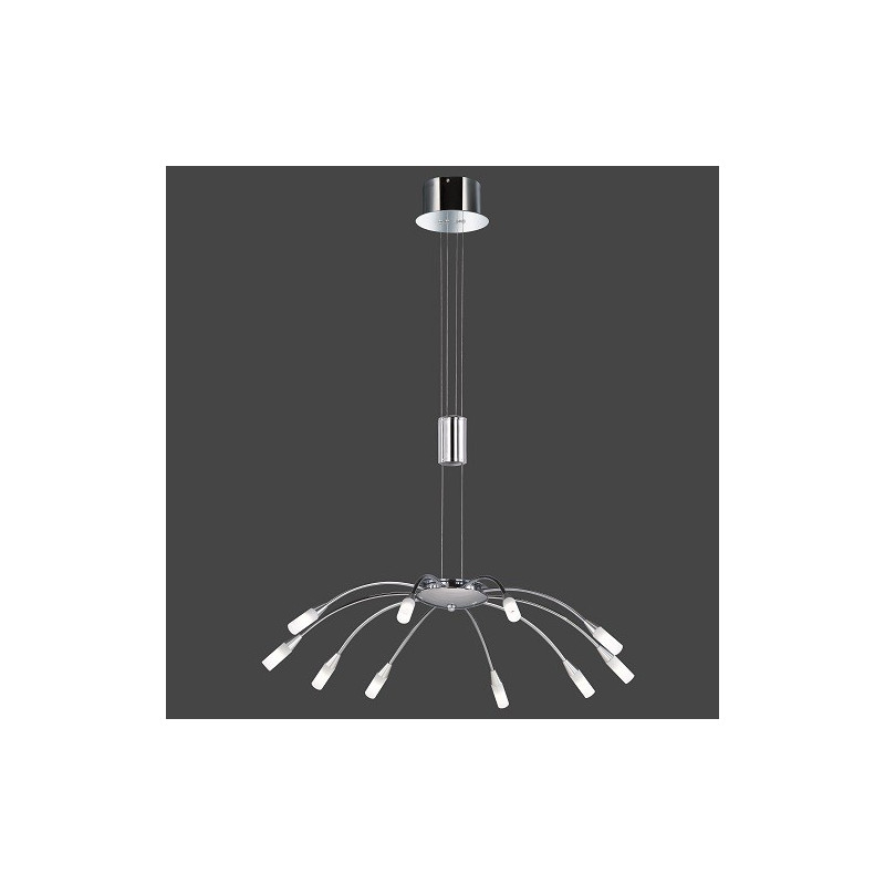 Suspension design Umbrella 10L Chrome et Verre mat