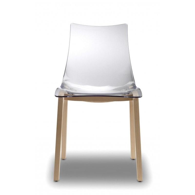 Chaise transparente natural zebra scab design